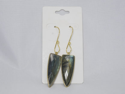 Labradorite and gold earrings with gold plated ear wires
